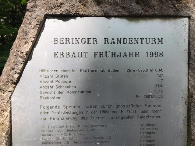 Infotafel, Beringer Randenturm - 11.07.2021
