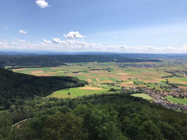 Blick auf die Klettgauer Dörfer - 11.07.2021