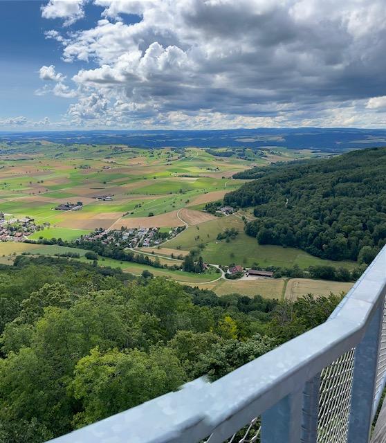 Blick vom Siblinger Randenturm in den Klettgau - 11.07.2021