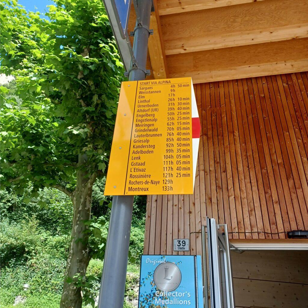 sehr lange Wanderzeiten ab Vaduz - 09.07.2021