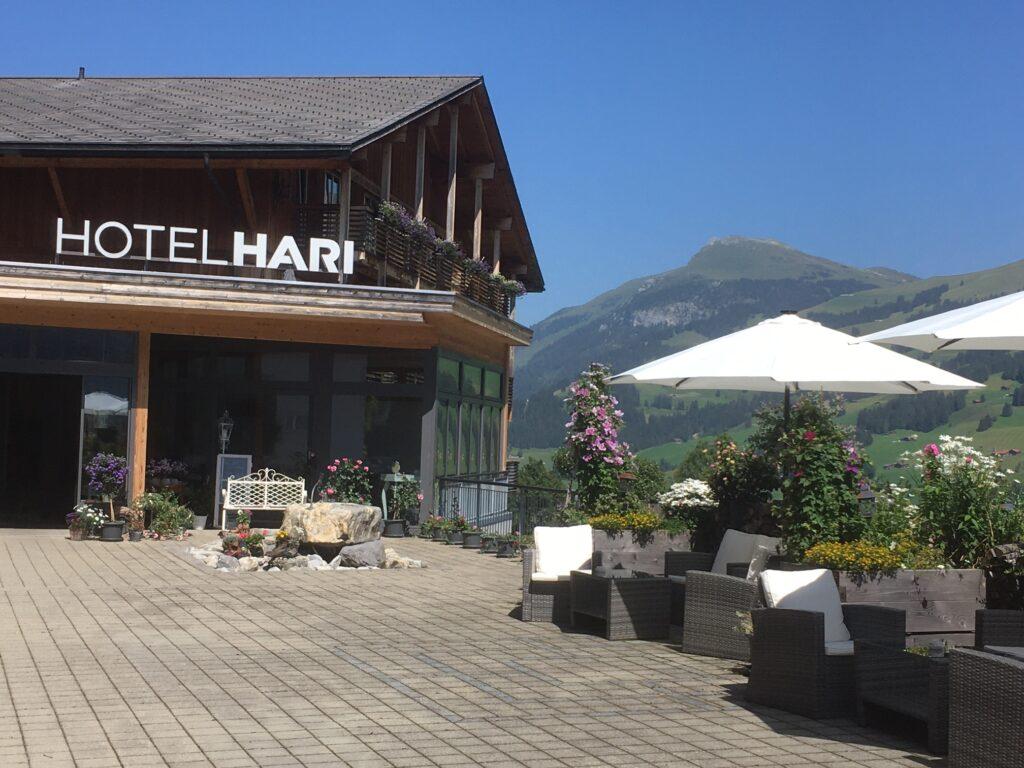 Hotel Hari im Schlegeli mit Blick zum  Elsighorn