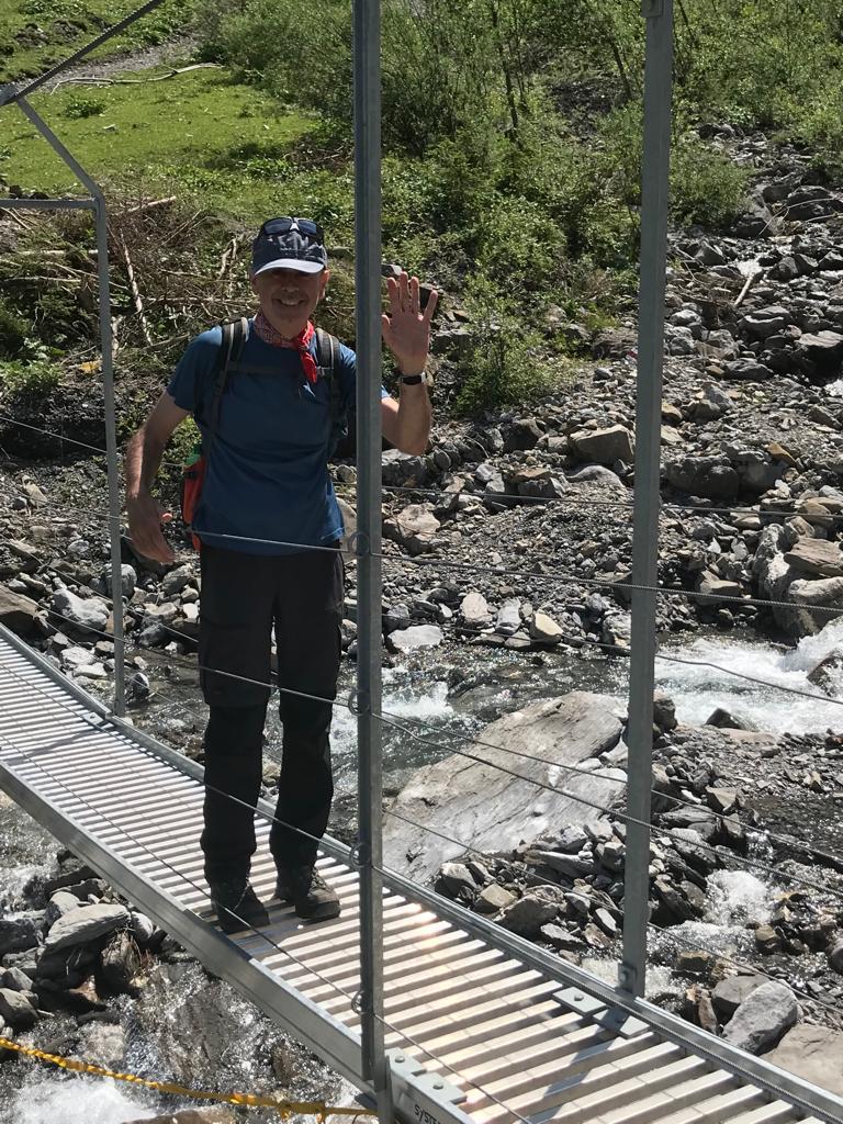 Hängebrücke unterhalb der Bunderfälle - 09.08.2021