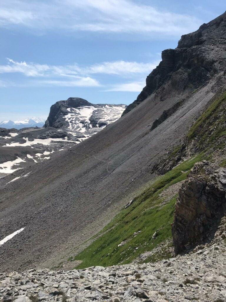 steiles Gelände am Chindbettipass - 10.08.2021