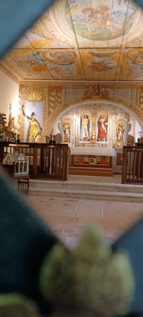 Innenraum der Kapelle St. Verena - 01.08.2021