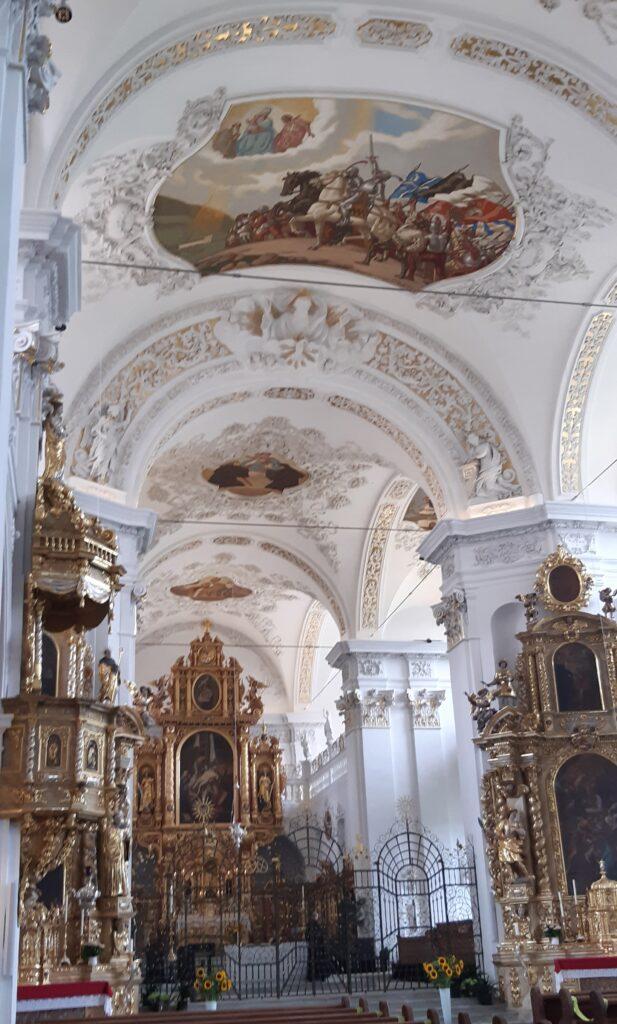 barocker Bogen in der Klosterkirche Disentis - 22.08.2021