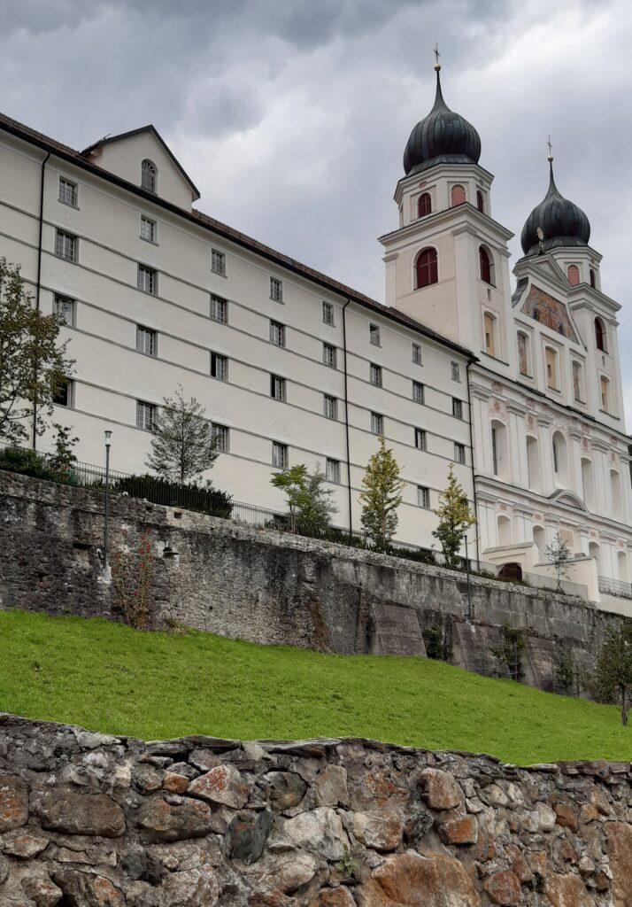 eindrückliches Bauwerk Kloster Disentis - 22.08.2021
