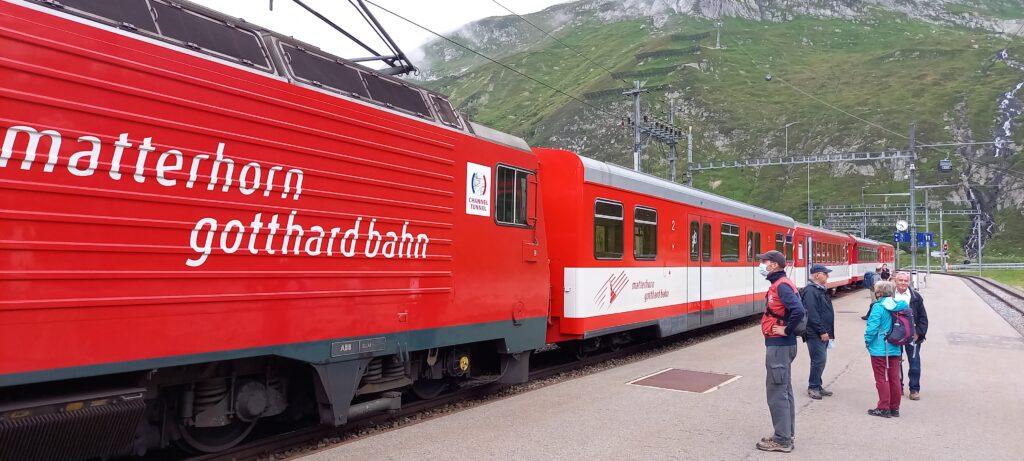 Weiterfahrt mit der Matterhorn-Gotthardbahn nach Andermatt - 22.08.2021