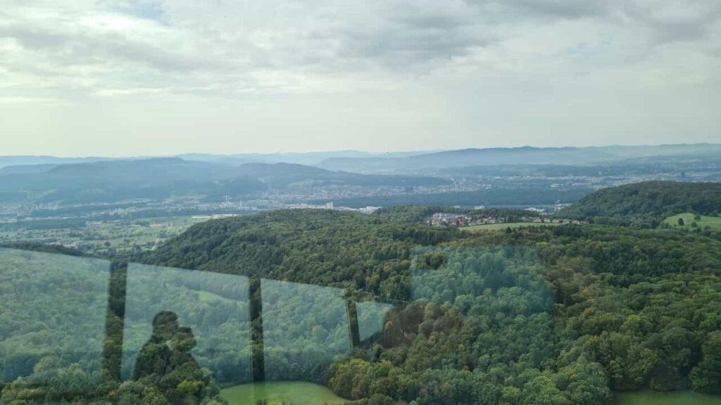 Ausblick 1 vom Fernsehturm Richtung Basel - 25.09.2021