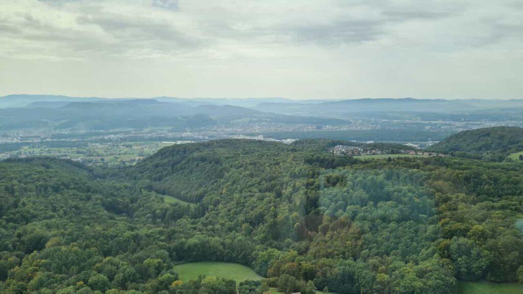 Ausblick 2 vom Fernsehturm Richtung Basel - 25.09.2021