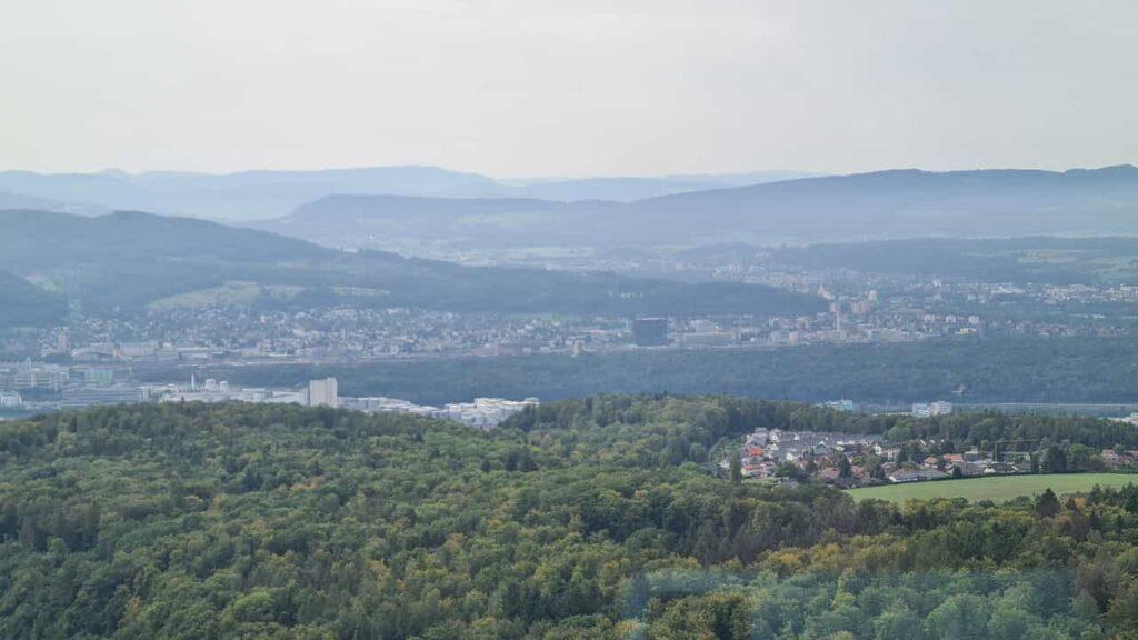 Ausblick 3 vom Fernsehturm Richtung Basel - 25.09.2021