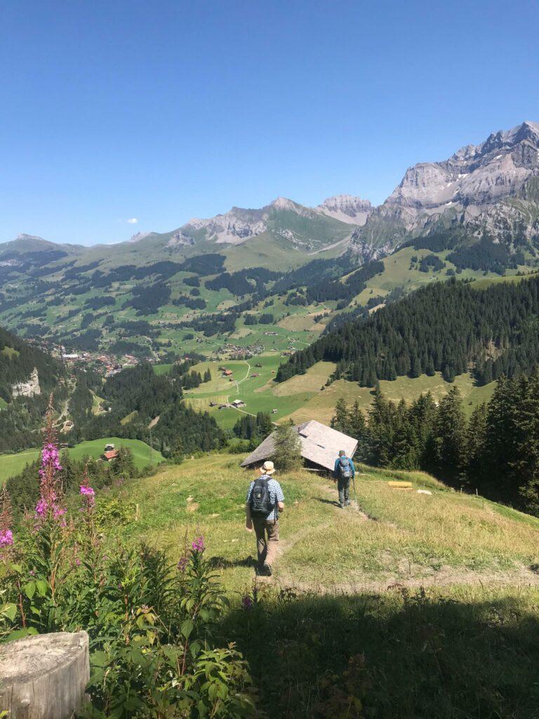 gemächlicher Abstieg - Adelboden 2021