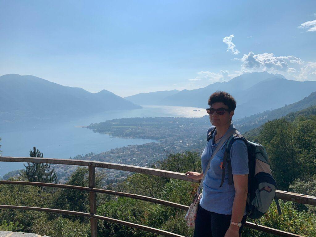 Herrlicher Ausblick von der Terrasse des Grotto Ritrovo oberhalb Brione - 11.09.2021