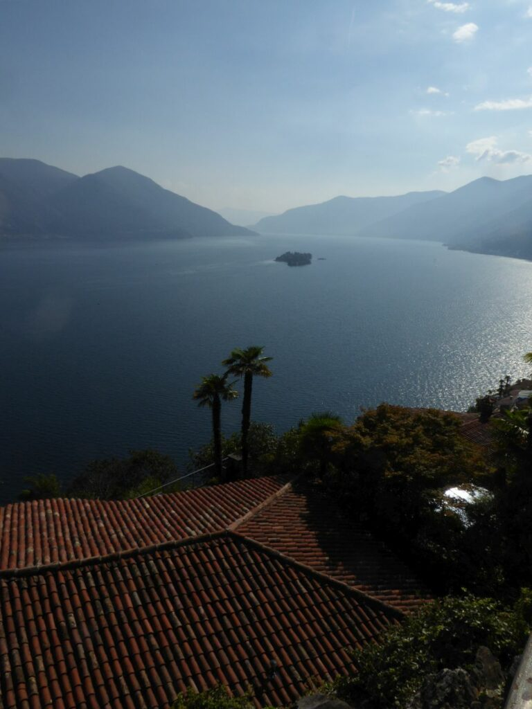 Lago Maggiore mit den Brissago-Inseln in der Ferne - 12.09.2021