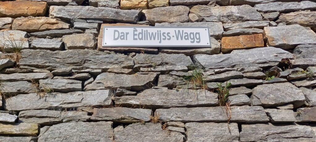 Strassenbezeichnung im Walser-Dialekt 13.09.2021