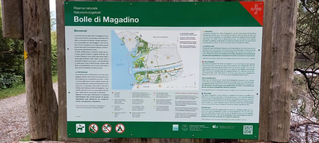 "Infotafel Naturreservat ""Bolle di Magadino"" - 16.09.2021"