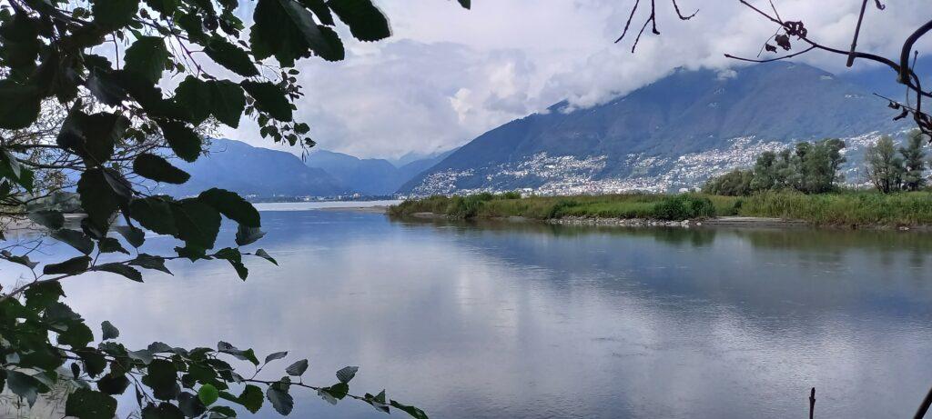 Zufluss Ticino in den Lago Maggiore - 16.09.2021